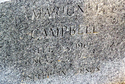 Marion E Campbell