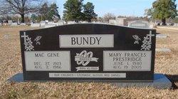 Mary Frances <i>Prestridge</i> Bundy
