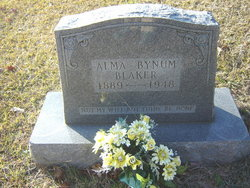 Alma <i>Bynum</i> Blaker