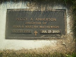 Peggy <i>Mathewson</i> Anderson