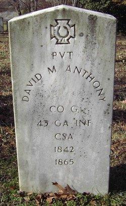 Pvt David M. Anthony