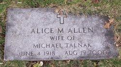 Alice M <i>Allen</i> Talnak