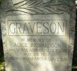 Alice <i>Richardson</i> Graveson