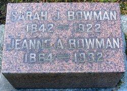 Jeanne A Bowman