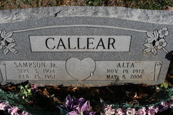 Alta Bell <i>Curtis</i> Callear