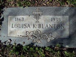 Louisa Lillian <i>Behrns</i> Blanton