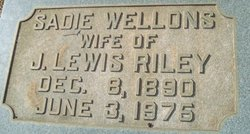 Sadie <i>Wellons</i> Riley
