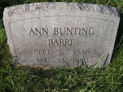 Ann <i>Bunting</i> Barre
