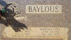 Mary Martha <i>Cole</i> Baylous