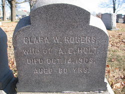 Clara W <i>Rogers</i> Holt