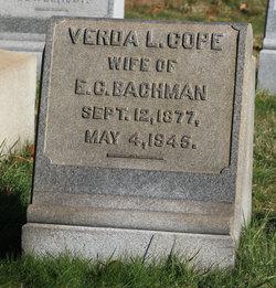 Verda L <i>Cope</i> Bachman