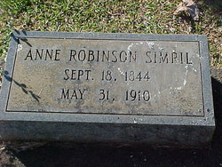 Anne Sallie Annie <i>Robinson</i> Simril