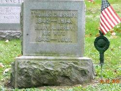Mary A. <i>McRoy</i> Crossley