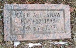 Martha E <i>Ritchie</i> Shaw