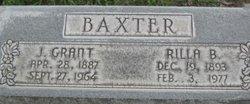 Sarah Florilla Rilla <i>Burgess</i> Baxter