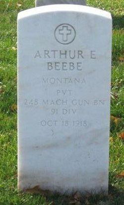 Pvt Arthur Edward Beebe