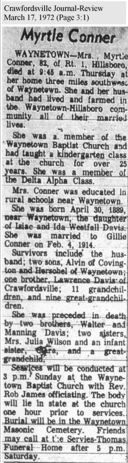 Myrtle Ethel <i>Davis</i> Conner