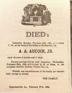 A A Aucoin, Jr