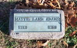 Mattie <i>Land</i> Adams