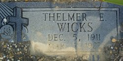 Thelmer E Wicks