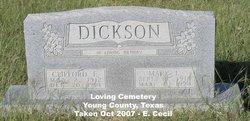 Mary Lee <i>Vance</i> Dickson