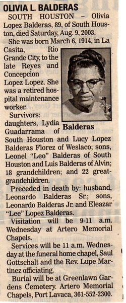 Olivia <i>Lopez</i> Balderas