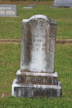 Augusta <i>Hendrix</i> Burke