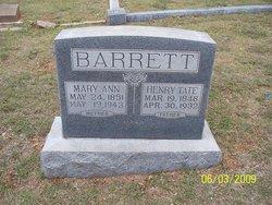 Mary Ann <i>Sullenger</i> Barrett