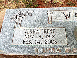 Verna Irene Irene <i>Poore</i> Wall