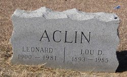 Lou <i>Douglas</i> Aclin