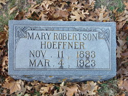 Mary <i>Robertson</i> Hoeffner