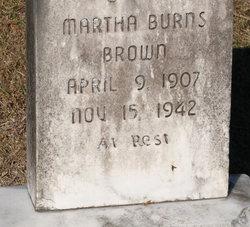 Matha <i>Burns</i> Brown