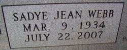 Sadye Jean <i>Webb</i> Ethridge