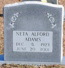 Neta Elizabeth <i>Alford</i> Adams