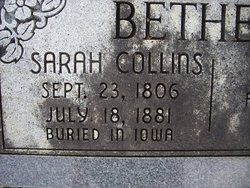 Sarah <i>Collins</i> Bethers