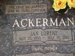 Jan Lorene <i>Sutherland</i> Ackerman