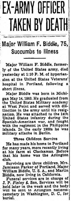Maj William Shepard Biddle, II