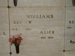 Rev Jasper W. Williams, Sr