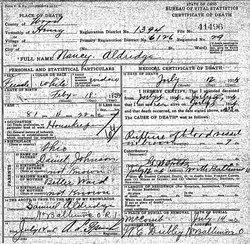 Nancy Martha <i>Johnson</i> Aldridge