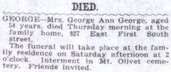George Ann Annie <i>Hawkins</i> George
