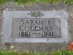 Sarah Frances <i>Marr</i> Coleman