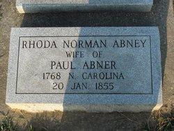 Rhoda <i>Norman</i> Abney