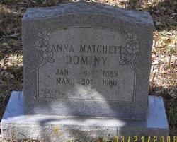 Harriet Susanna Anna <i>Matchett</i> Dominy