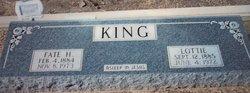 Charlotte Lottie <i>Finney</i> King