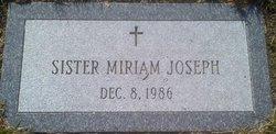 Sr Miriam Joseph