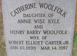 Catherine <i>Woolfolk</i> Carter