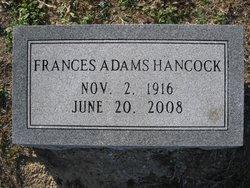 Frances <i>Adams</i> Hancock