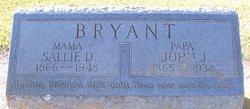 Sarah D Sallie <i>Harriss</i> Bryant