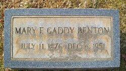 Mary F. <i>Gaddy</i> Benton