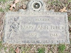 Mary Ann <i>Walters</i> Burck